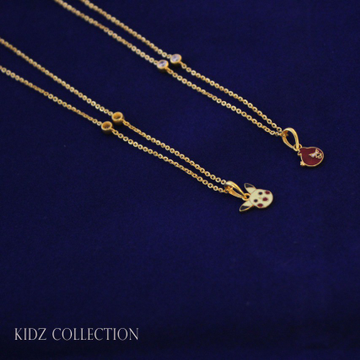 22ct (916) kids chain pendal by