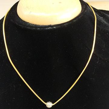 22 kt gold fancy trending pattern chain by Aaj Gold Palace