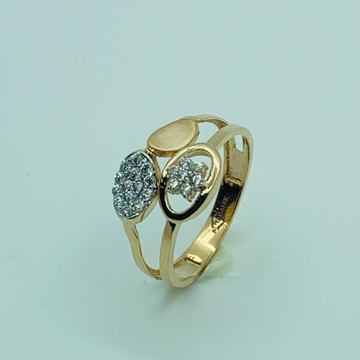 18 ct rose gold ring by