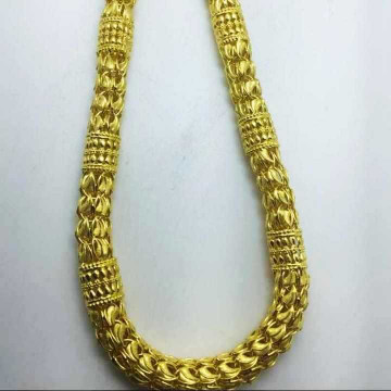 22 k gold hollow chain. nj-c0294