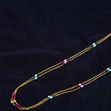 Ladies Designer 22K Gold ChainMala-AC74