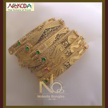 916 Gold Chakari Bangles NB-080