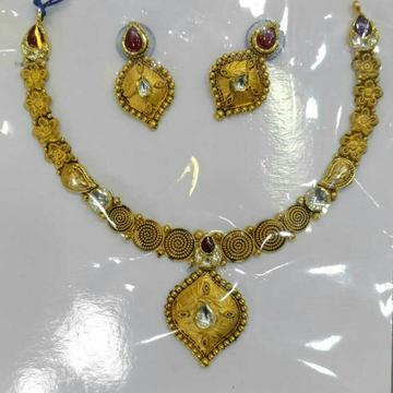 916 Gold Antique Wedding Necklace Set
