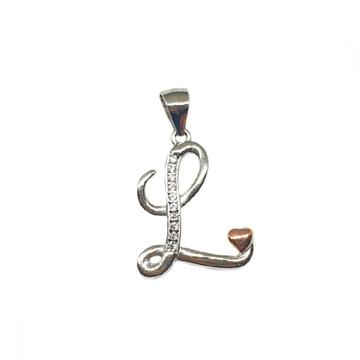 925 Sterling Silver Alphabet (Letter L) Pendant MGA - PDS0166