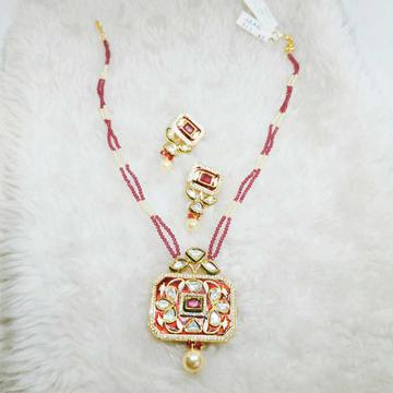 Red & Green Minakari Bikaneri Necklace#1064