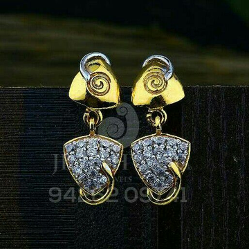 18kt Designer Cz Gold Ladies Tops ATG -0618