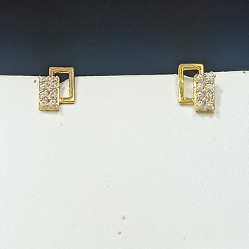 18CT Gold Classic Design Hallmark Earring  by