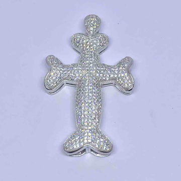 925 sterling silver cross pendant with high micro... by Veer Jewels