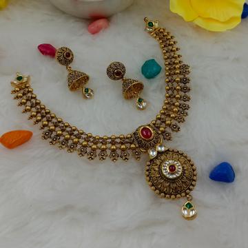 916 hallmark  attractive gold necklace set by Ranka Jewellers