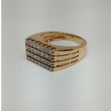 Real diamond rose gold branded Gent ring