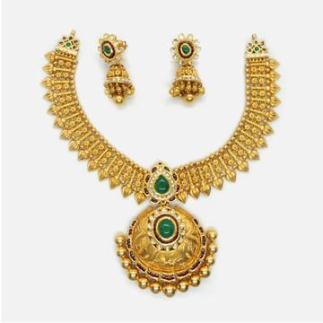 916 Gold Antique Bridal Jewellery Set RHJ-4886