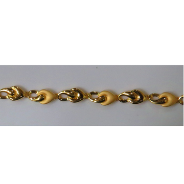 22kt Gold Plain Casting Ladies Bracelet