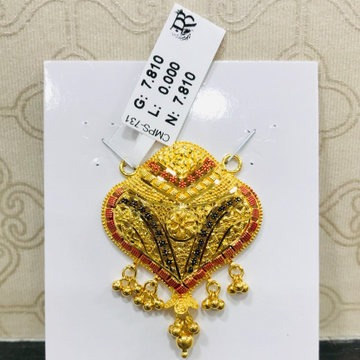 22 carat gold traditional mangalsutra RH-MN754