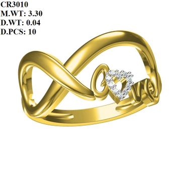 916 Gold Love Design Ring For Women MK-R03 by
