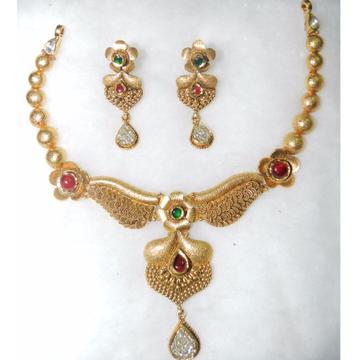 22K Ladies Designer Antique Necklace Set