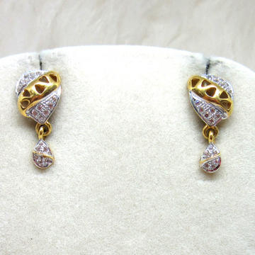 Gold Casting Micro Diamond Earring