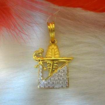 916 GOLD CZ DIAMOND PENDANT
