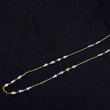 22kt Gold Designer  Women's Antique Chain Mala AC136