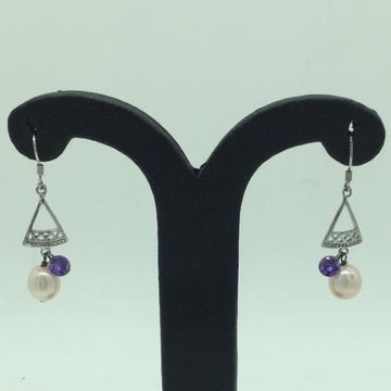PearlSilverEar HangingsJER0103