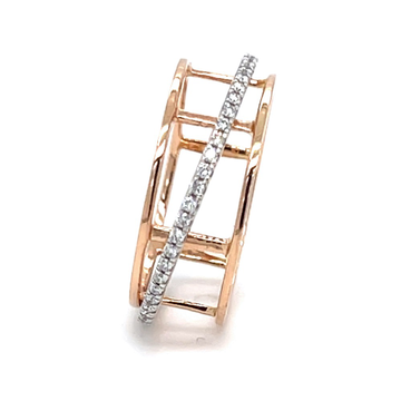 Dancing Single Line band Ring in Rose Gold 0LR197