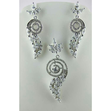 925 Silver Classic Pendent Set