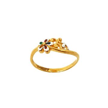 22K Gold Meenakari Ring MGA - LRG0287