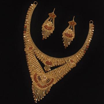 22KT Gold Traditional Necklace Set PO-N02