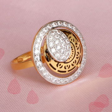 916 Gold Antique Carving ring PJ-R018