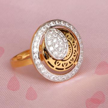 916 Gold Antique Carving ring PJ-R018