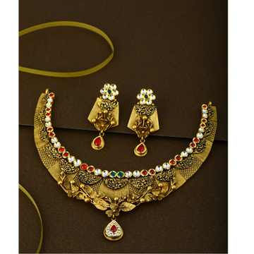 916 Gold Parity Bridal necklace Set