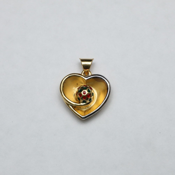 916 Gold Heart Shape Pendant ML-P002