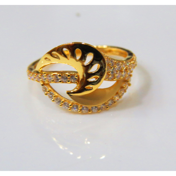 22kt Gold Cz Casting Ladies Ring by