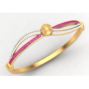 916 Gold CZ Pink Colorstone Ladies Bracelet SO-B00... by S. O. Gold Private Limited