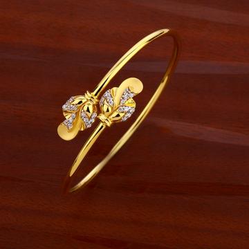18ct cz women's classic hallmark  kada bracelet lk...