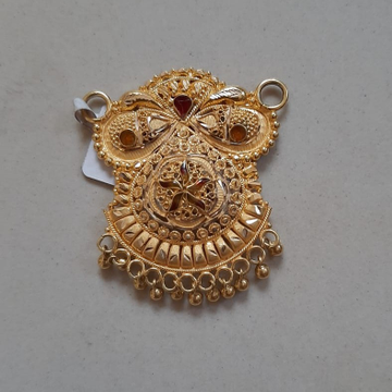 22KT Gold Stylish Mangalsutra Pendant TBJ-P04 by