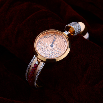 Rose Gold Ladies Cz Watch-RLW89