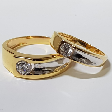 22 ct gold couple ring single diaomond by