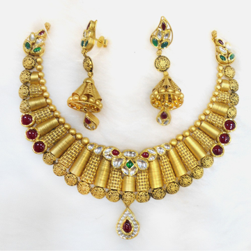 916 Gold Antique Necklace Set RHJ-5491