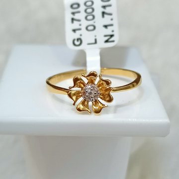 22 kt flower shape ring by