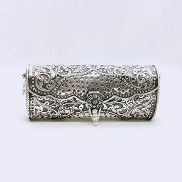 hallmarked silver designer clutch in net floral mo...
