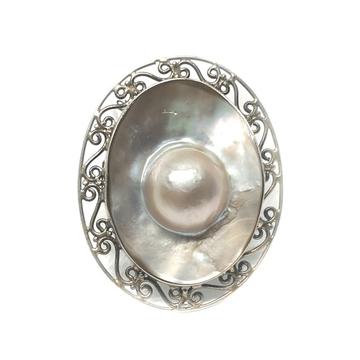 925 sterling silver oval shaped rajawadi designer ring mga - lrs0121