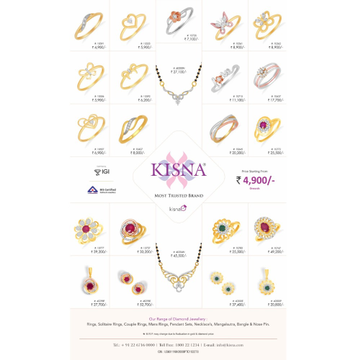 916 Gold Kisna Real Diamond Jewellery
