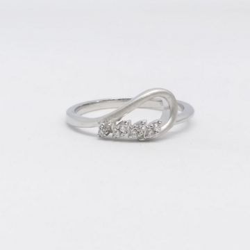 925 Sterling silver fancy met finished ladies ring by Zaverat
