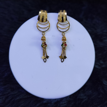 22KT/916 Yellow Gold Isis Drop Earrings For Women