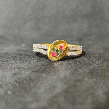 22k Ladies Exclusive Gold Ring-17021