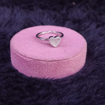 92.5 Sterling Silver Heart Ring For Women