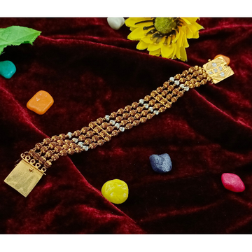 916 gold rudrax 4 line lucky by Ranka Jewellers