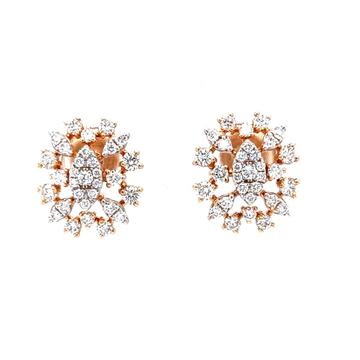 Bonita diamond earrings in hallmarked 18k rose gold 0top79