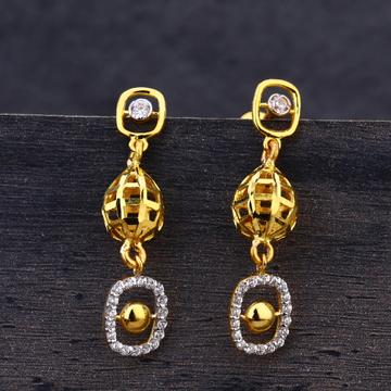 22KT Gold CZ Exclusive  Ladies Earring  LJE263