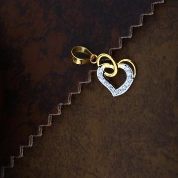 916 Gold Heart  Cz Pendal RH-CH78